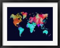 Framed Dotted World Map 5