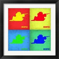 Framed Memphis Pop Art Map 1
