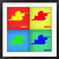 Framed Memphis Pop Art Map 1