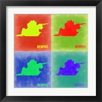 Framed Memphis Pop Art Map 2