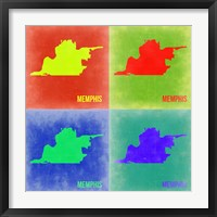 Framed Memphis Pop Art Map 2