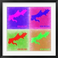 Framed New Orleans Pop Art Map 2