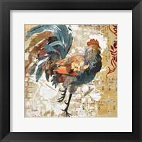 Framed Rooster Flair I