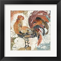 Framed Rooster Flair II