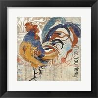Framed Rooster Flair IV