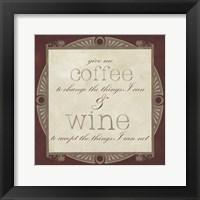 Framed Inspired Wine I