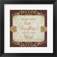 Framed Inspired Wine III