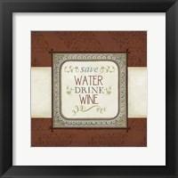 Framed Inspired Wine IV