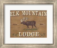 Framed Lodge Sign III