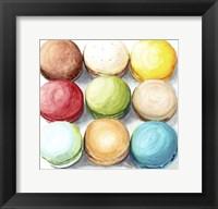 Framed 9 Macarons