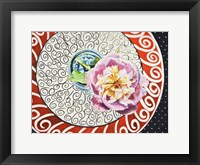 Framed Flower on Plate I