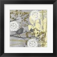 Serene Bird & Branch II Framed Print