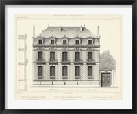 French Facade II Framed Print
