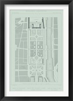 Framed Mint & Slate Garden Plan II