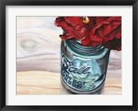Ball Jar Flower III Framed Print