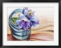 Ball Jar Flower IV Framed Print