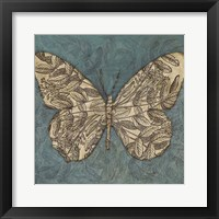Collage Butterfly I Framed Print