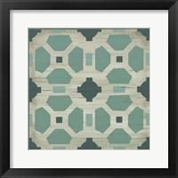 Framed Verdigris Garden Tile IV