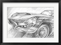 Sports Car Study II Framed Print