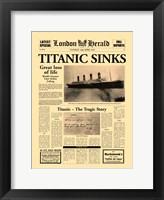 Framed Titanic Sinks