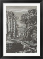 Classical Landscape Triptych I Framed Print