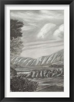 Classical Landscape Triptych II Framed Print