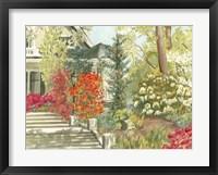 Framed Plein Air Garden I
