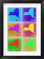 Framed New York Pop Art Map 2
