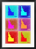 Framed Idaho Pop Art Map 2