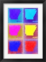 Framed Arkansas Pop Art Map 2
