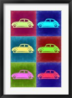 Framed VW Beetle Pop Art 2