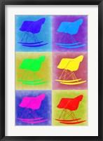 Framed Eames Rocking Chair Pop Art 2