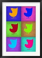 Framed Egg Chair Pop Art  2