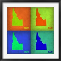 Framed Idaho Pop Art Map 1