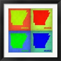 Framed Arkansas Pop Art Map 1