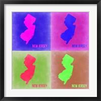 Framed New Jersey Pop Art Map 2