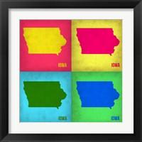 Framed Iowa Pop Art Map 1