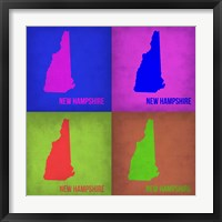 Framed New Hampshire Pop Art Map 1