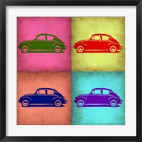 Framed VW Beetle Pop Art 1