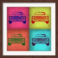 Framed Chevy Camaro Pop Art 1