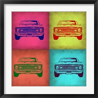 Framed Chevy Camaro Pop Art 1