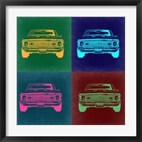 Framed Chevy Camaro Pop Art 2