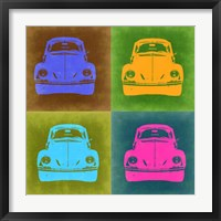 Framed VW Beetle Front Pop Art 2