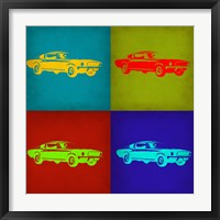Framed Ford Mustang Pop Art 1