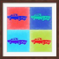 Framed Ford Mustang Pop Art 2