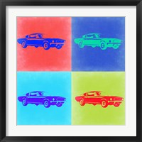 Framed Ford Mustang Pop Art 2