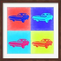 Framed Dodge Charger Pop Art 2