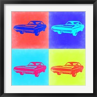 Framed Dodge Charger Pop Art 2