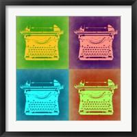 Framed Vintage Typewriter Pop Art 1