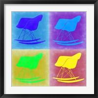 Framed Eames Rocking Chair Pop Art 1
